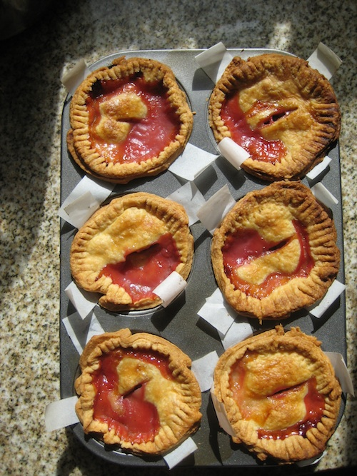 Small peach ginger pies