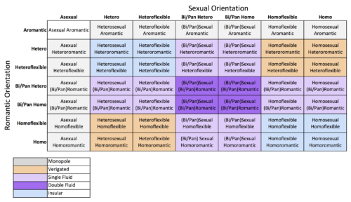 Different types of sexual orientation